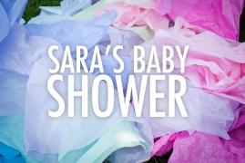 Sara's Baby shower Title Graphic